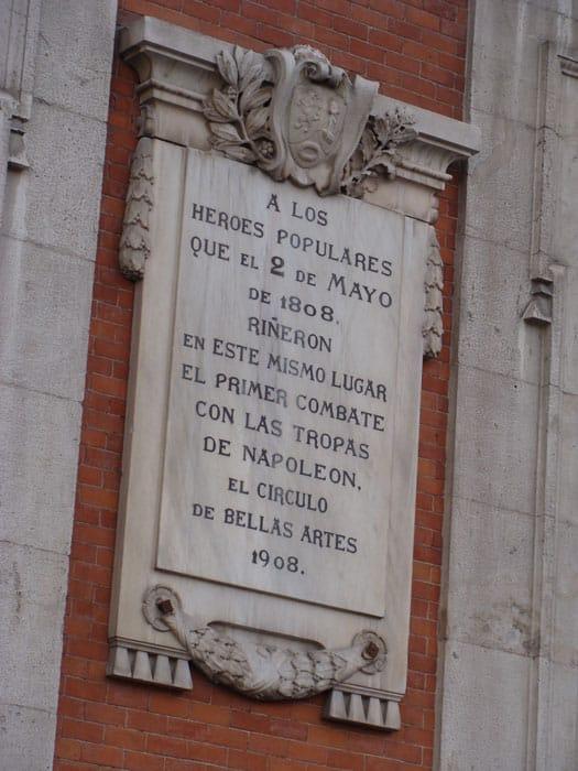Audioguía levantamiento del 2 de mayo Madrid